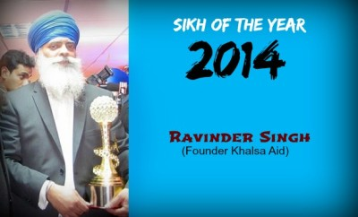 sikh of the year 2014 ravinder singh founder of khalsa aid