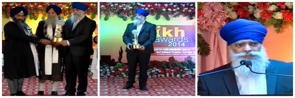 Sikh of the year 2014 Award to Ravinder singh Khalsa aid
