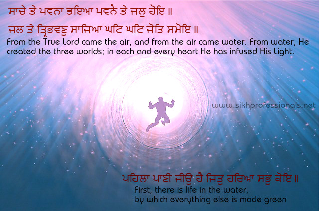 Water Is Life Quote Impressive Vision In Guru Granth Sahib On Universe Air Water & Life